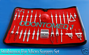 29 Pc O r Grade Strabismus Ophthalmic Eye Micro Surgery Surgical Instruments Kit