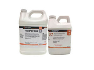 Thick 3 1 Two Part Thick Epoxy Resin System Kit 1 33 Gallons