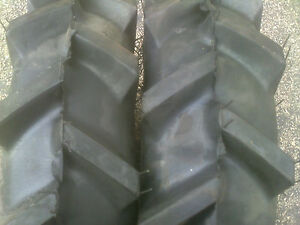 Two New 600 12 Tractor Tires W tubes 6 00 12 Kubota Deere Bar Lug Mower Traction