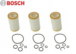 Set Of 3 Oil Filter Bosch Workshop 72204ws For Dodge Mercedes W164 E55 Amg G55