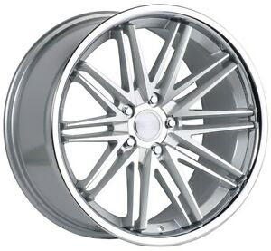 19x10 Concept One Wheels Cs16 5x114 3 30 Silver Machined Rims set Of 4