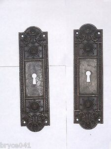 Antique Pocket Door Pulls Stamped 5275 5355