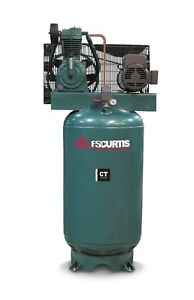 Fs Curtis Ct Series Simplex Vertical Tank Mounted Air Compressor 5 Hp 230 1