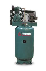 Fs Curtis Ct Series Simplex Vertical Tank Mounted Compressor 7 5 Hp 1 60 230v