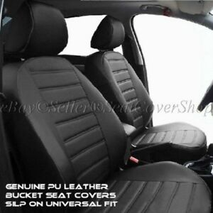 A40 Us Auto A Universal Fit Leather Pu Leatherette Seat Covers Set 12mm Thick