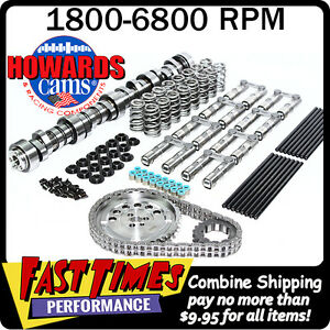 Howard s Gm Ls 274 274 612 612 115 Turbo Cam Camshaft Kit W link bar Lifters