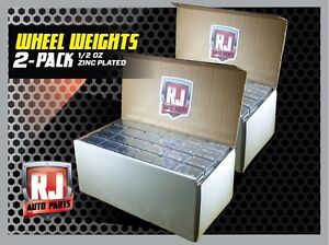 2 boxes Wheel Weights 1 2 Oz Stick On Adhesive Tape 576 Pieces Zinc Plated