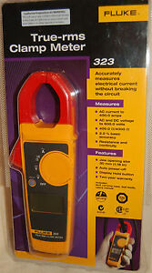 Fluke 323 True rms Clamp Meter 400a Ac 600v Ac dc With Carry Case
