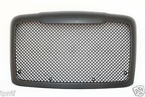 Black Custom Mesh Grille With Bug Screen 2008 2015 Freightliner Cascadia G38w