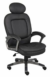 Boss Office Products Executive Pillow Top Chair With Headrest B7101 New