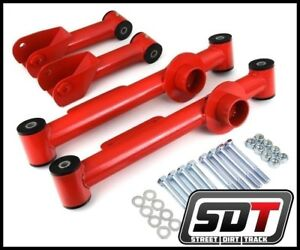 Sdt 1979 2004 Ford Mustang Full Set 4 Piece Rear Steel Control Arms Kit Red