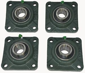 Ucf206 19 1 3 16 Square 4 Bolt Flange Block Mounted Bearing Unit qty 4