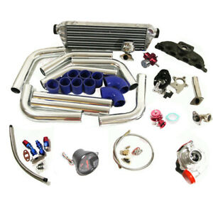 90 96 Accord Prelude Complete T3 Turbo Kit F22 f23 h23 Even Port 0 0 0 0 Engine