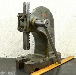 Enco Model 90600 Arbor Press 1 2 Ton Benchtop Rack And Pinion Lever Press Used