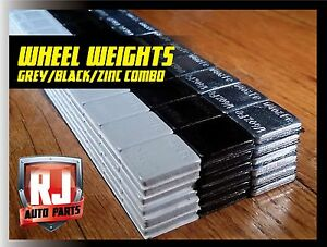 1 Box Wheel Weights Grey Black Zinc 1 4 Oz Stick On Adhesive Tape 9 Lb 576 Pc