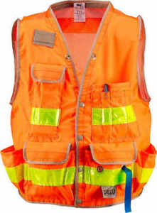 Seco Class 2 Surveyor s Vest With Mesh Back Orange X large 52 54 Chest