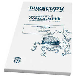 Duracopy Waterproof Copier laser Printer Paper 11 X 17 100 Sheets