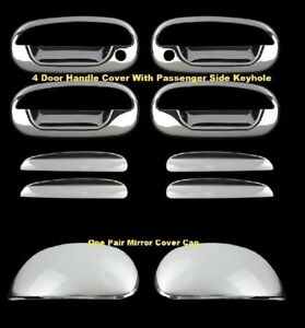 For 1997 2003 Ford F150 97 2002 Expedition Chrome Covers Door Handles cap Mirror
