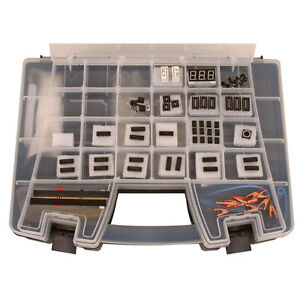 Deluxe Electronics Kit 2 With 109 Pieces br various Logic Ics Voltage Regulators