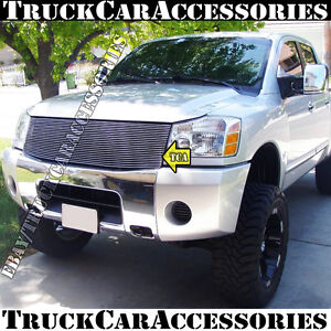 For Nissan Titan 2004 2007 Armada 04 07 Polished Grille 1pc Replacement W O Logo