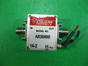 Cougar Components Rf Amplifier Ar3069b Used