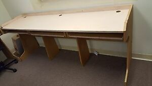 65 Off Long 3 Section Office Computer Table With Individual Slide Out Trays