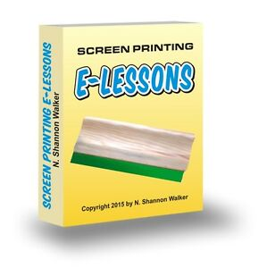 Screen Printing T shirt Printers E lessons