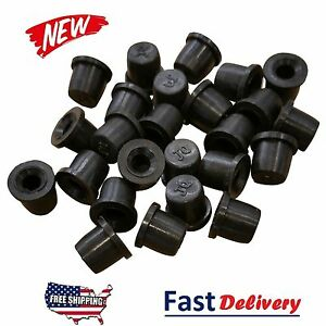 25 Pack Brake Bleeder Screw Caps Grease Zerk Fitting Cap Rubber Dust Cover