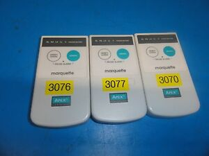 3 X Ge Marquette Apex S Telemetry Transmitter W o Cable 174 216mhz Vhf Band 5316
