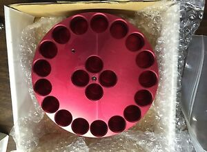 Chemglass Reaction Block 4 Dram 16 Ml Vial Red 21 Position Cg 1991 06