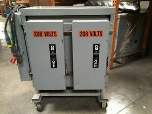 150 Kva Transformer Portable With Disconnects And Wiring