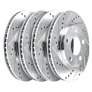 Fits 2012 2013 Chevrolet Silverado 2500 Hd Fr Rr Drill Slot Brake Rotors