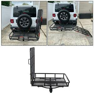 60 Folding Truck Car Cargo Carrier Basket Luggage Rack Hitch Hauler 2 Receiver