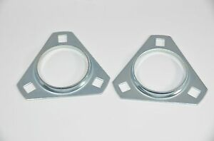 Pft205 Triangle 3 Bolt Pressed Steel Bearing Flanges sold In Pairs
