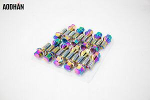 20pc 12 X 1 5 Lug Bolt Neo Chrome Wheels Rims Locks Bolts Fit Bmw