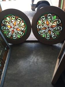 Sg 499 Two Available Priced Separate Antique Celtic Design Round Windows