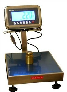 50 Lbs X 0 01 Lb Bws Ntep Weighing Washdown Platform Industrial Shipping Scale