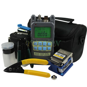 8in1 Fiber Optic Ftth Tool Kit Fc 6s Fiber Cleaver And 2 In1 Optical Power Meter
