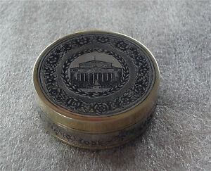 Russian 875 Sterling Silver Gilded Niello Ring Pill Snuff Box Bolshoi