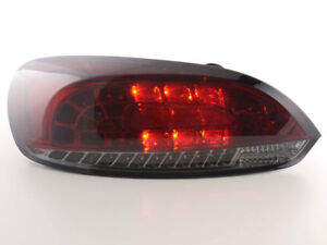 Led Taillights Taillights In Red Smoke Finish For Vw Scirocco Iii From 2008
