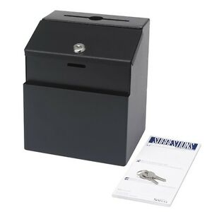 Safco Suggestion Box Steel Black 4232bl New