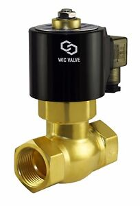 Brass Normally Closed High Pressure Electric Steam Solenoid Valve 1 Inch 24v Dc