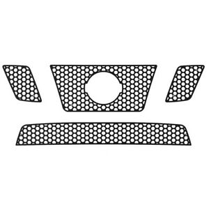 Grille Insert Guard Circle Punch Black Fits 09 14 Nissan Frontier 32