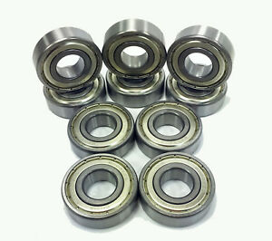 6207 zz C3 Emq Premium Shielded Ball Bearing 35x72x17mm qty 10