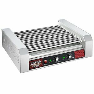 Great Northern Popcorn Commercial 30 Hot Dog 11 Roller Grilling Machine 2200w