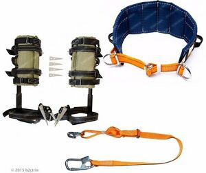 Tree Climbing Spike Set Safety Belt Adjustable Safety Lanyard spurs Gaffs