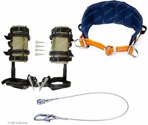 Tree Climbing Spike Set Safety Belt Safety Lanyard Metal spurs Gaffs