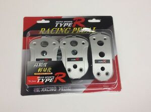 3pc Set Universal Auto Sport Type R Clutch Brake Gas Racing Pedal Pads Tr2444