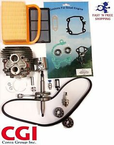 Stihl Ts420 Cylinder Kit Crankshaft Overhaul Gasket Set Air Filter Bearings