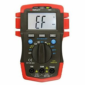 Triplett 1401 True Rms Compact Digital Multimeter With Backlit Lcd Measurement